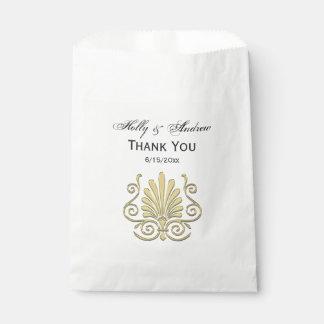Vintage Art Deco Gold Plume Arabesque Favour Bag