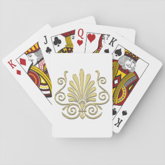 Vintage Art Deco Gold Plume Arabesque Playing Cards