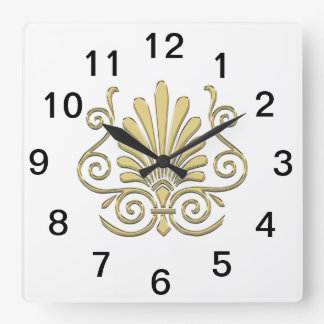 art deco wall clocks. Black Bedroom Furniture Sets. Home Design Ideas