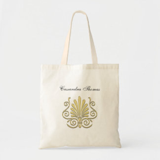 Vintage Art Deco Gold Plume Arabesque Tote Bag