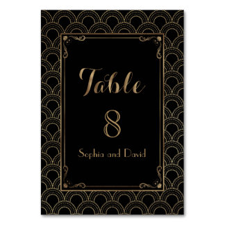 Vintage Art Deco Great Gatsby Wedding TABLE NUMBER Table Cards