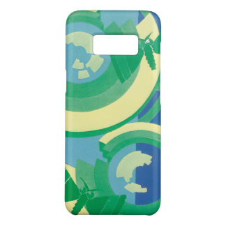 Vintage Art Deco Jazz Pochoir Garden Butterflies Case-Mate Samsung Galaxy S8 Case