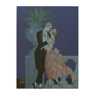 Vintage Art Deco Love Romance Newlyweds Wedding Wood Prints