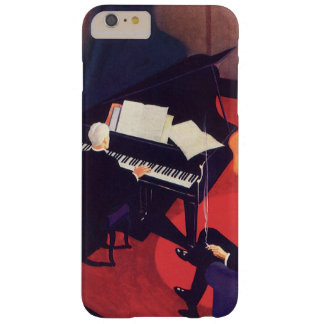 Vintage Art Deco Music Pianist Piano Player Lounge Barely There iPhone 6 Plus Case