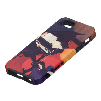 Vintage Art Deco Music Pianist Piano Player Lounge iPhone 5/5S Cover