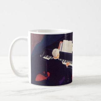 Vintage Art Deco Music Pianist Piano Player Lounge Coffee Mug
