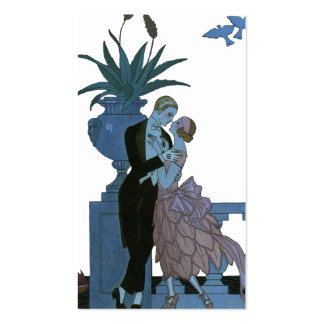 Vintage Art Deco, Newlyweds Love Wedding Dance Business Card Template