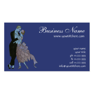 Vintage Art Deco, Newlyweds Love Wedding Dance Business Cards
