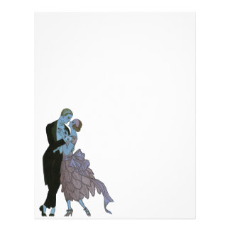 Vintage Art Deco, Newlyweds Love Wedding Dance Custom Flyer