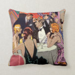 Vintage Art Deco Nightclub Cocktail Party Pillows