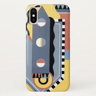 Vintage Art Deco Pochoir Jazz Geometric Patterns iPhone X Case