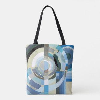 Vintage Art Deco Pochoir Jazz Geometric Shapes Tote Bag