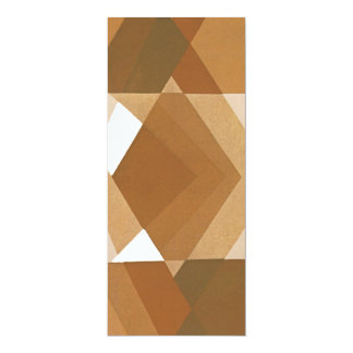 Vintage Art Deco Pochoir Jazz Tan Geometric Shapes Card
