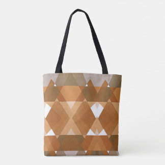 Vintage Art Deco Pochoir Jazz Tan Geometric Shapes Tote Bag