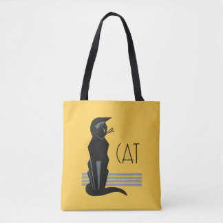 Vintage Art Deco Poster Cat Tote Bag
