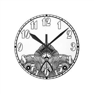 Vintage Art Deco Round Clock