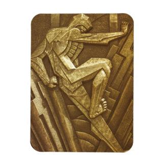 Vintage Art Deco Sculpture Rectangular Photo Magnet