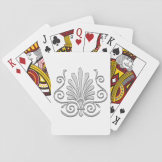 Vintage Art Deco Silver Plume Arabesque Playing Cards
