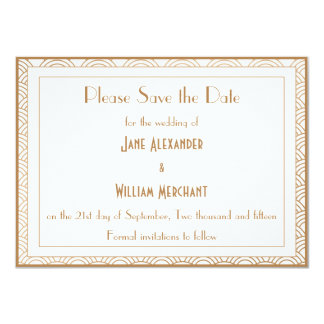 Vintage Art Deco Style Fans Wedding Save the Date Custom Announcements