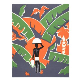Vintage Art Deco Travel Poster African Jungle Custom Invitations