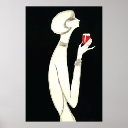 Vintage Art Deco ~ Villemot for Campari 1977 Poster
