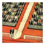 Vintage Art Deco Wedding, Bride Groom Newlyweds Personalised Invitation