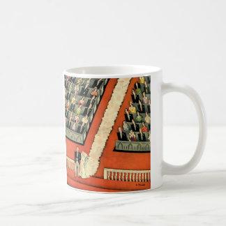 Vintage Art Deco Wedding, Bride Groom Newlyweds Mug