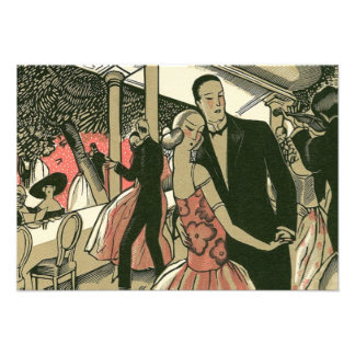 Vintage Art Deco Wedding Newlyweds First Dance Announcement
