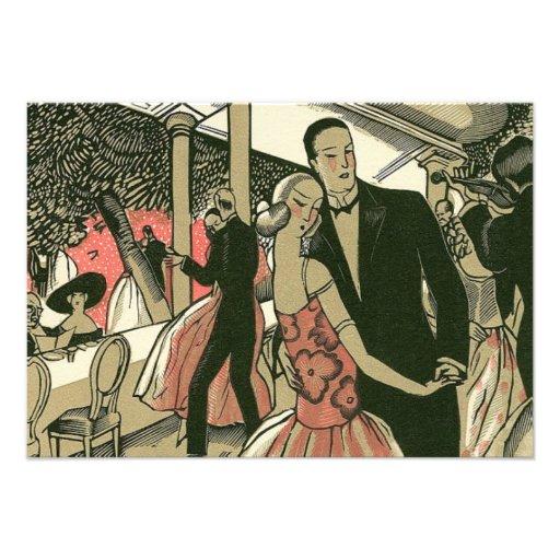 Vintage Art Deco Wedding, Newlyweds First Dance Announcement