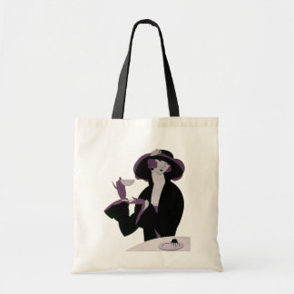 Vintage Art Deco Woman, Afternoon Tea and Cupcake Bags