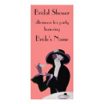 Vintage Art Deco Woman, Afternoon Tea and Cupcake Personalized Rack Card