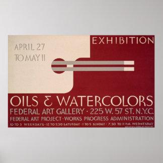 Vintage Art Exhibition Poster