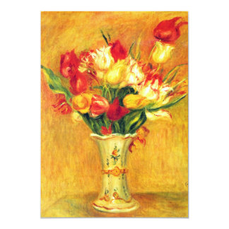 Vintage Art Flower, Tulips by Renoir Bridal Shower Card