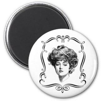 Vintage Art Gibson Girl Magnet
