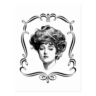 Vintage Art Gibson Girl Postcard