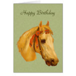 Vintage Art Horse Head Drawing Birthday Card