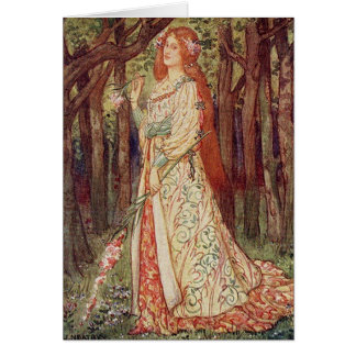 Vintage Art - La Belle Dame Sans Merci Card