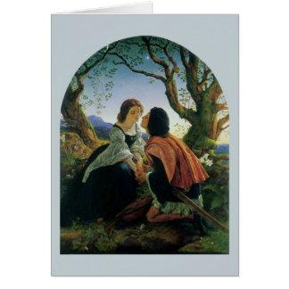 Vintage Art, Lovers at Dusk, Sir Joseph Noel Paton Greeting Card