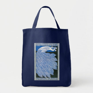 Vintage Art Nouveau Advertising Poster - Peacock Grocery Tote Bag