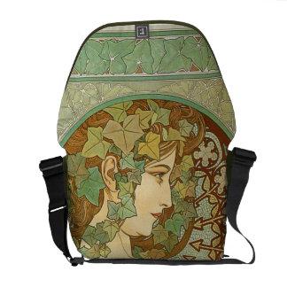 Vintage Art Nouveau   Alphonse Mucha Messenger Bags