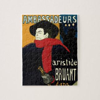 Vintage Art Nouveau Ambassadeurs, Toulouse Lautrec Jigsaw Puzzle