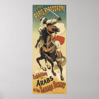 Vintage Art Nouveau, Arabs of the Sahara Desert Posters