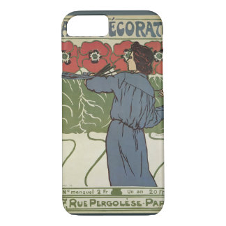 Vintage Art Nouveau, Artist Painting Poppy Flowers iPhone 8/7 Case