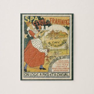 Vintage Art Nouveau, Beer Bar Restaurant and Cafe Jigsaw Puzzle