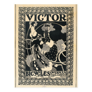 Vintage Art Nouveau Bicycle Advertisement Art Postcard