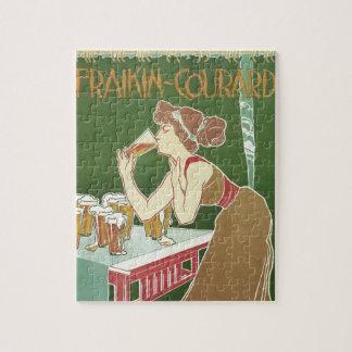 Vintage Art Nouveau Brasserie Fraikin-Courard Beer Jigsaw Puzzle