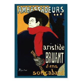 Vintage Art Nouveau by Henri de Toulouse Lautrec 13 Cm X 18 Cm Invitation Card