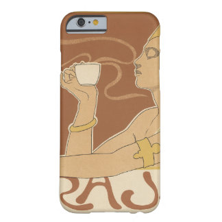 Vintage Art Nouveau Cafe Rajah, Lady Drinking Tea Barely There iPhone 6 Case
