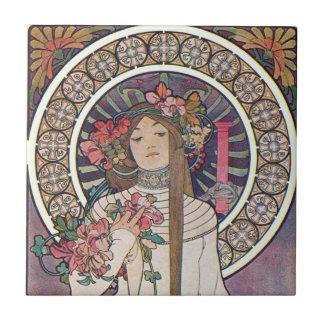 Vintage art nouveau ceramic tiles