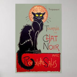 Vintage Art Nouveau Chat Noir Black Cat Art Poster